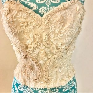 EPIC 3D Floral & Beaded Bridal BODICE!